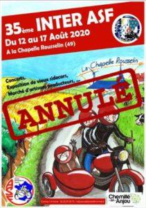Inter ASF 2020 annulé