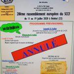 Rassemblement Européen SCCF 2020 Annulé
