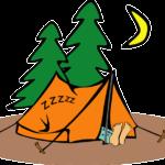 Camping de la fille qui chante